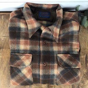 Vintage Pendleton Men's Flannel Shirt Size Large